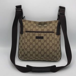 Authentic Gucci GG Monogram Brown Crossbody Bag❤️